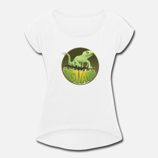 Reptile T-Shirts - Rare reptiles - Women's Rolled Sleeve T-Shirt white
