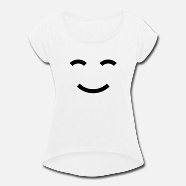 Smile World Smiles Smile the World - Women's Roll Cuff T-Shirt