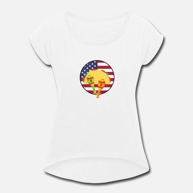 Chicano Flag Mexican American Flag Chicano - Women's Rolled Sleeve T-Shirt