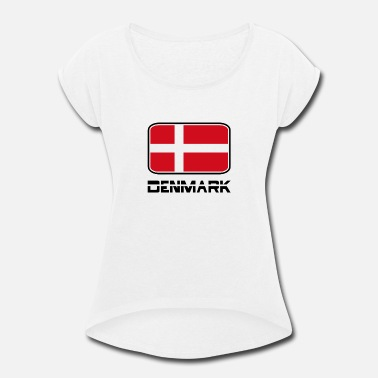 Denmark Flag - Women's Rolled Sleeve T-Shirt