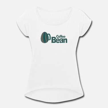 Bean Monster Coffee bean - Women's Rolled Sleeve T-Shirt
