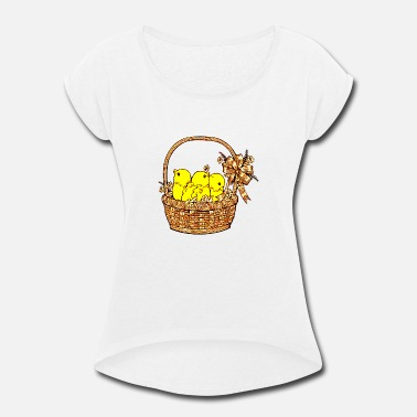 Easter Chick Easter Chicks - Women's Roll Cuff T-Shirt