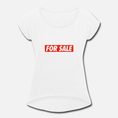 Sale FOR SALE - Women's Rolled Sleeve T-Shirt