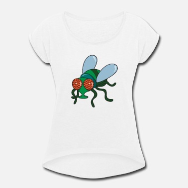 Fly Fly Insect - Women's Rolled Sleeve T-Shirt