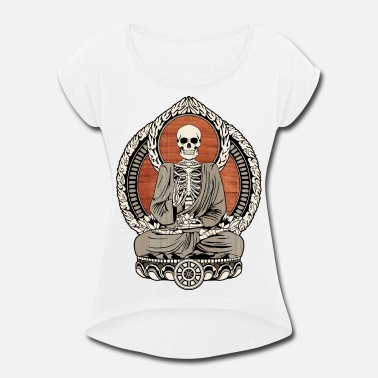 Meditation Starving Buddha - Women's Rolled Sleeve T-Shirt