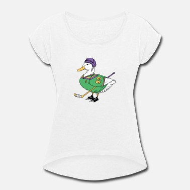 The Mighty Ducks Mighty Duck - Women's Rolled Sleeve T-Shirt