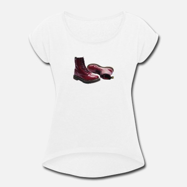Skinhead Boots Red Doc Marten Skinhead Boots Ideal Birthday Pres - Women's Rolled Sleeve T-Shirt