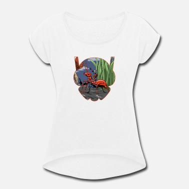 Back Yard Scott Lang Crossing The Back Yard - Women's Rolled Sleeve T-Shirt