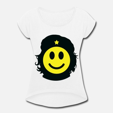 Revolutionary Revolutionary smiley - Women's Roll Cuff T-Shirt