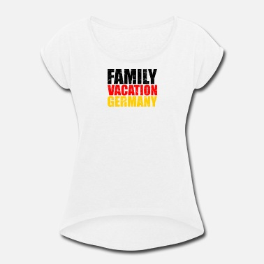 Beer Family goes on vacation & holiday to Germany - Women's Rolled Sleeve T-Shirt