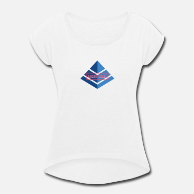 Pyramid Ancient Jewel - Ancient Egypt - Women's Rolled Sleeve T-Shirt