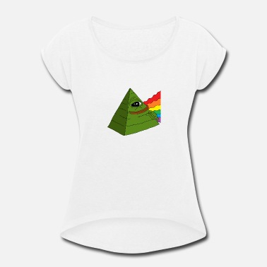 frog pyramid - Women's Rolled Sleeve T-Shirt