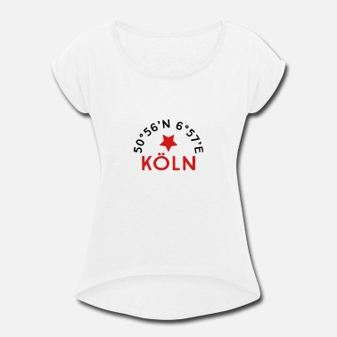 North Rhinewestphalia Cologne - Women's Rolled Sleeve T-Shirt