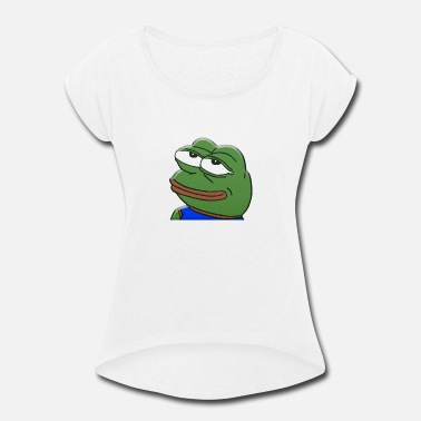Funny Pepe Incredulous Pepe - Women's Roll Cuff T-Shirt