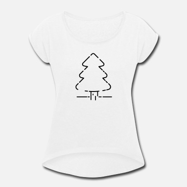 Christmas tree - Women's Rolled Sleeve T-Shirt