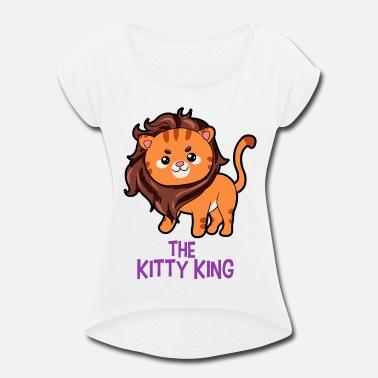 75b953fe Mane The Kitty King Lion long mane wig cute cartoon - Women's. Women's  Rolled Sleeve T-Shirt