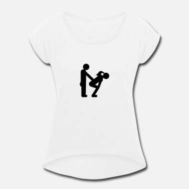 Bachelor straight couple - Women's Rolled Sleeve T-Shirt