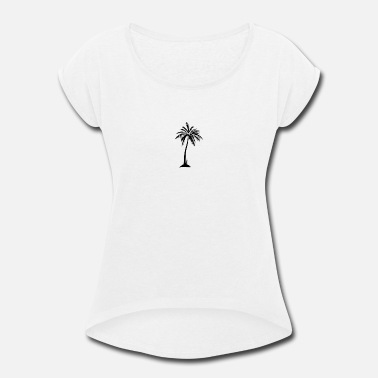 Trees Palm Tree - Women's Rolled Sleeve T-Shirt