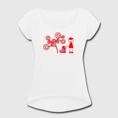 year of the dog PLAY - Women's Roll Cuff T-Shirt