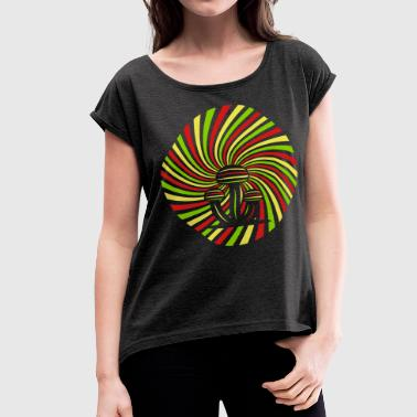 Magic Mushrooms - Women's Roll Cuff T-Shirt