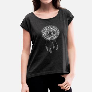 Dream Dream Catcher Graphic Tee - Women's Rolled Sleeve T-Shirt