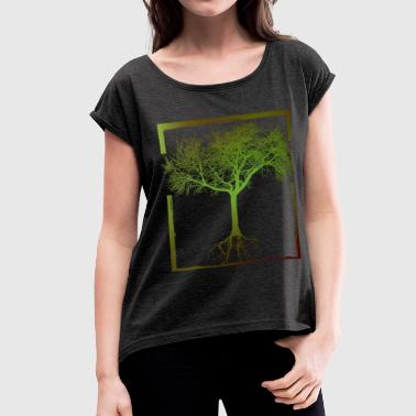 Mother Nature - Frame 01 - Women's Roll Cuff T-Shirt