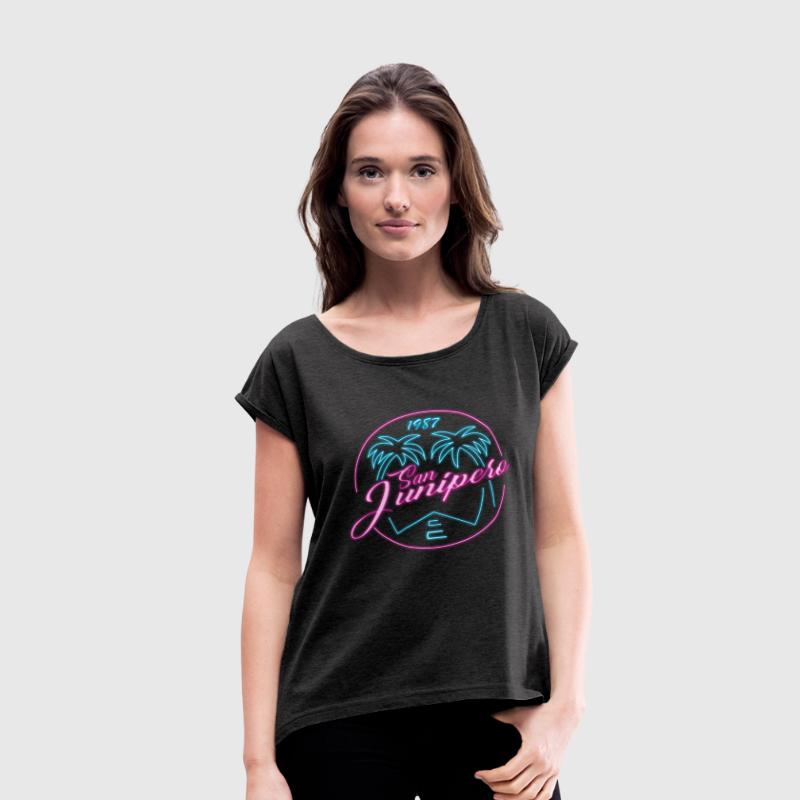 San Junipero 1987 - Women's Roll Cuff T-Shirt