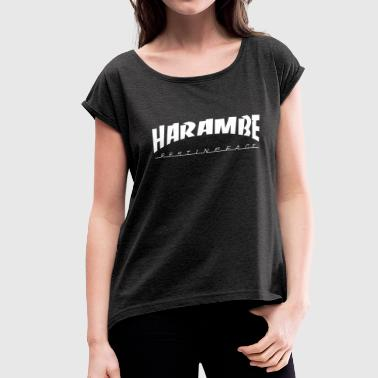 harambe rest in peace - Women's Roll Cuff T-Shirt