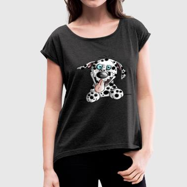 Funny Dalmatian - Dog - Gift - Puppy - Dogs - Women's Roll Cuff T-Shirt