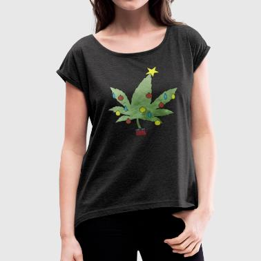 Christmas tree - Women's Roll Cuff T-Shirt