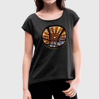 Magic symbol - Sanctum Sanctorum, sorcery, - Women's Roll Cuff T-Shirt