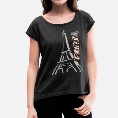 Paris PARIS - Women's Roll Cuff T-Shirt