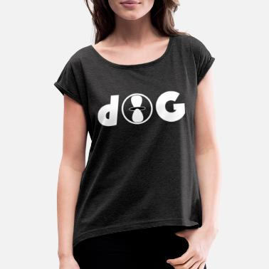 Abbreviation 163- d-orbital game abbreviation logo - Women's Rolled Sleeve T-Shirt