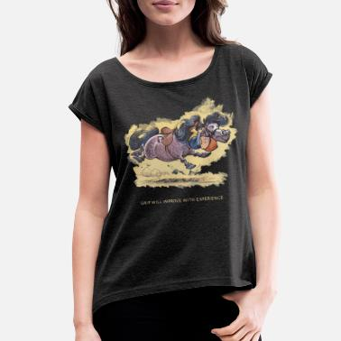 Norman Thelwell Thelwell Grip will improve - Women's Rolled Sleeve T-Shirt