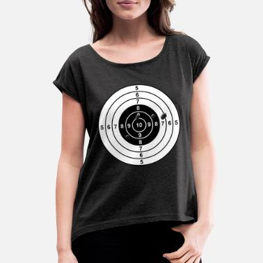 Strike target - Women's Rolled Sleeve T-Shirt