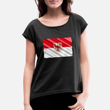 Brandenburg Brandenburg Flag - Women's Rolled Sleeve T-Shirt