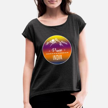 Pune Pune India - Women's Rolled Sleeve T-Shirt