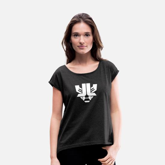 Luke T-Shirts - laidback luke - Women's Rolled Sleeve T-Shirt heather black