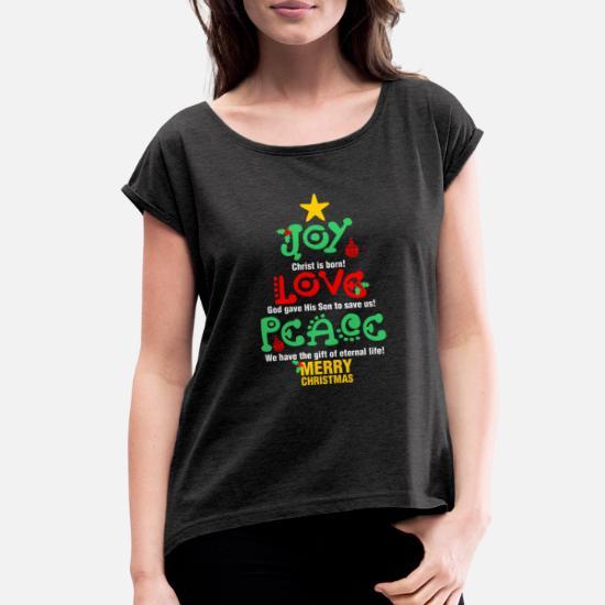 Love Peace Hope Joy God/'s Gifts Through Jesus Christmas 2-tone Hoodie Pullover