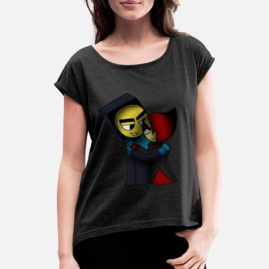 Master Frown Master Frown and Lord Scarlet - Women's Rolled Sleeve T-Shirt