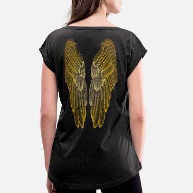 Gold Long Gold Wings - Women's Rolled Sleeve T-Shirt