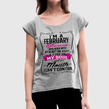 FEBRUARY WOMAN - Women's Roll Cuff T-Shirt