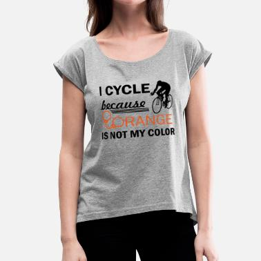 Cycling Design cycle design - Women's Roll Cuff T-Shirt