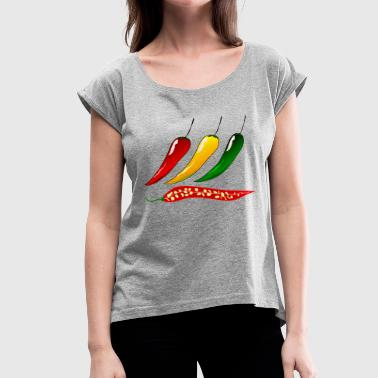 chili pepper - Women's Roll Cuff T-Shirt
