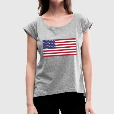 United states t shirt - Women's Roll Cuff T-Shirt