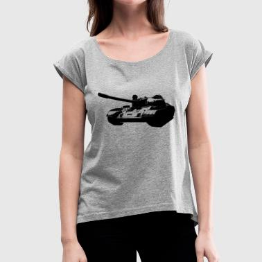 Main Battle Tank T-54 Main Battle Tank - Women's Roll Cuff T-Shirt