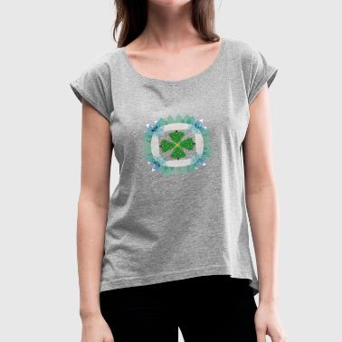 Tree Form Tree Circle - Women's Roll Cuff T-Shirt