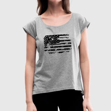 Hockey Flag Clothing Field Hockey Flag Shirt - Women's Roll Cuff T-Shirt