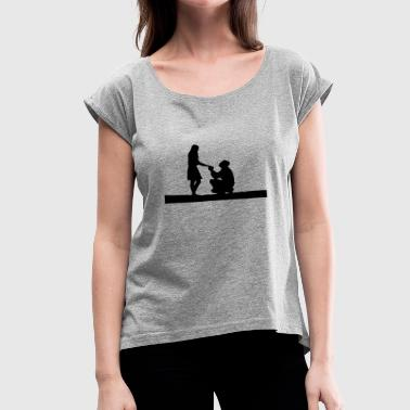 Wedding proposal - Women's Roll Cuff T-Shirt
