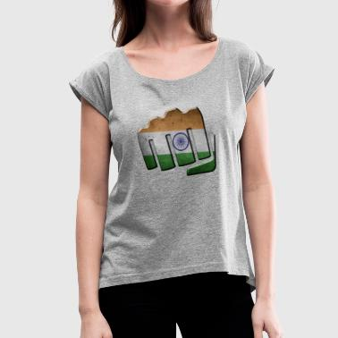 India - Women's Roll Cuff T-Shirt